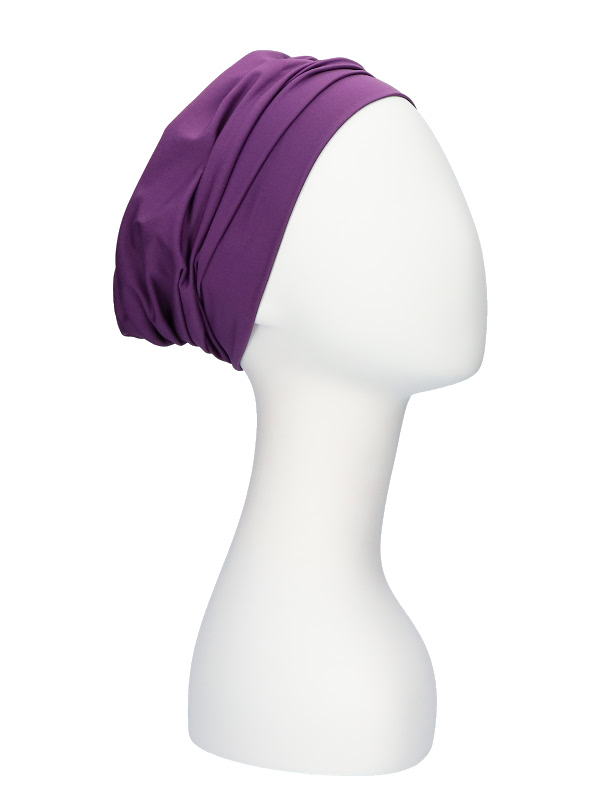 Comfortabel mutsje Iris paars - chemo hoofdbedekking / alopecia mutsje