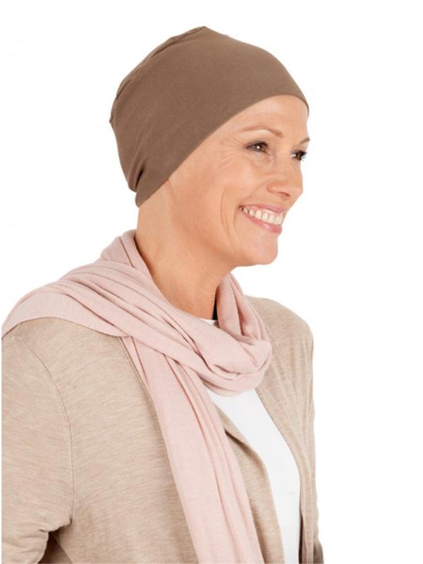 Zijkant van Slaapmutsje LB - chemo nachtmutsje / alopecia mutsje