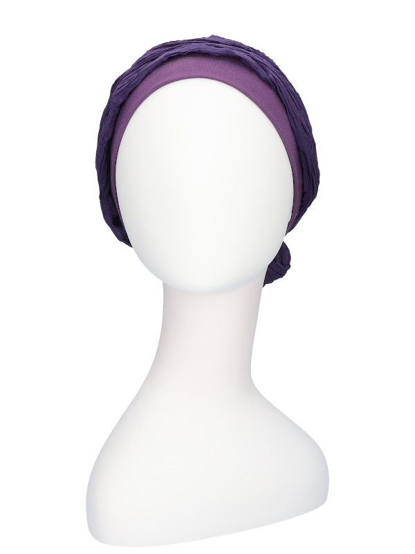Top Mano paars - chemo muts / chemo sjaal
