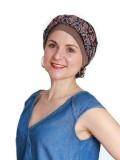Top Mano Print Bruin - chemo mutsje / alopecia mutsje - verkrijgbaar bij MooiHoofd
