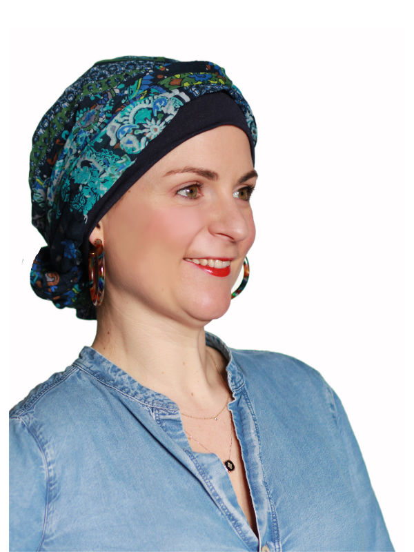 Top Mano print N - chemo mutsje / alopecia mutsje
