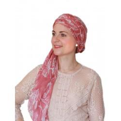 Sjaalmutsje New Fantasie Delhi Pink Print