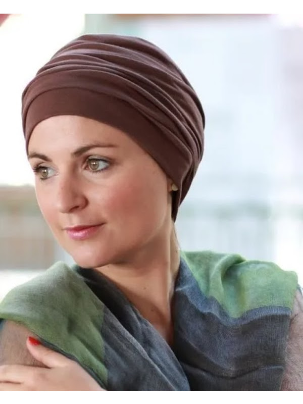Top Noa bruin - chemotherapie mutsje / alopecia mutsje
