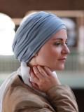 Top Noa blauwgrijs- chemo mutsje / alopecia mutsje