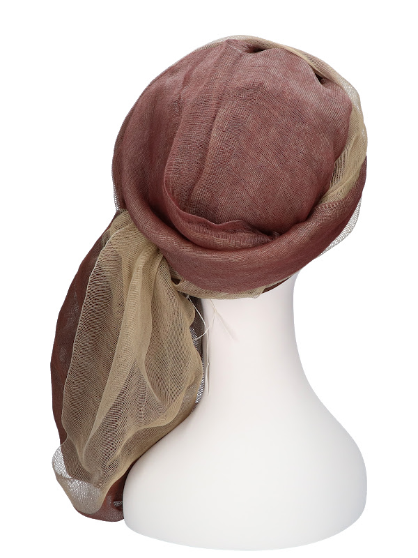 Sjaalmutsje Bruin - hoofddoekjes chemo