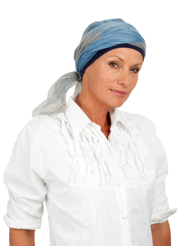 Sjaalmutsje Denim - chemo sjaal