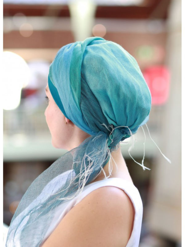 Sjaalmutsje Ocean - chemo hoofdsjaal of alopecia sjaal