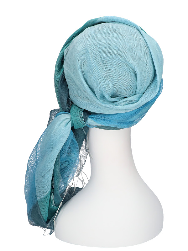 Sjaalmutsje Ocean - chemo hoofd sjaal of alopecia sjaal