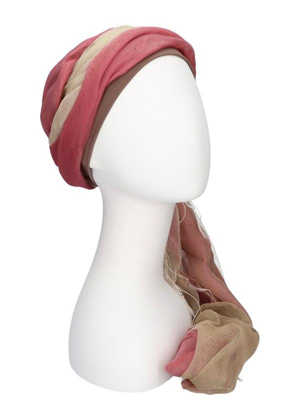 Sjaalmutsje Pink - haaruitval chemo of alopecia sjaal