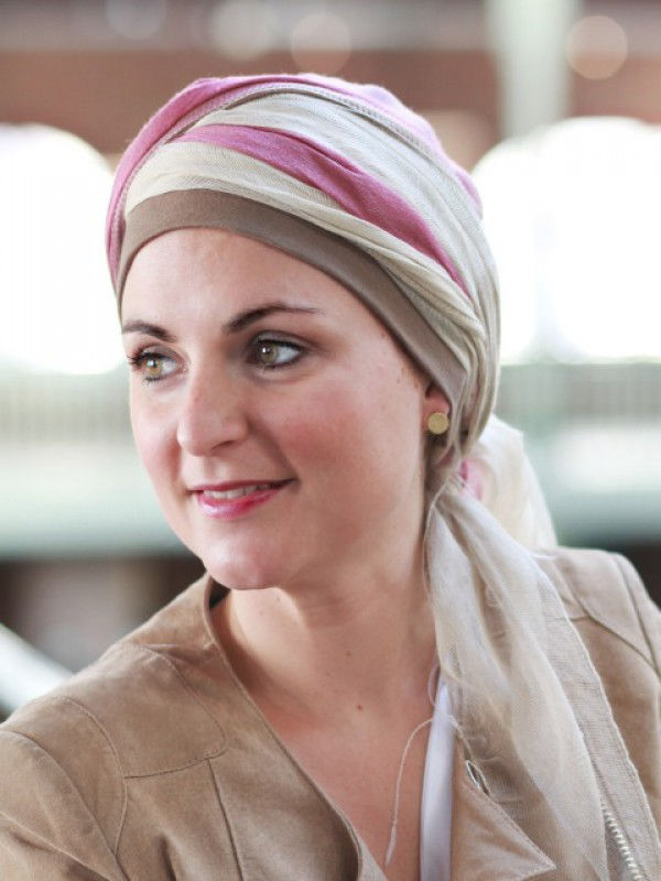 Sjaalmutsje Pink - chemo sjaal of alopecia sjaal