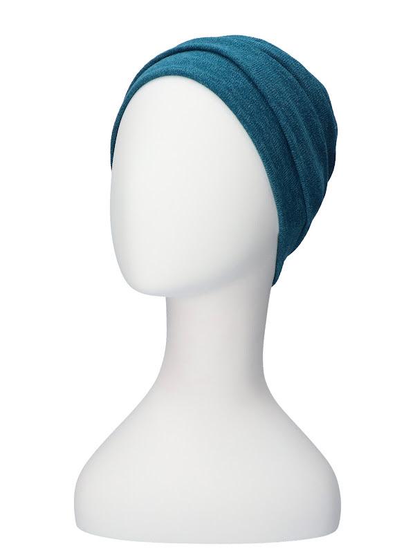 Winter muts Sasha Petrol - chemo muts / alopecia hoofdbedekking