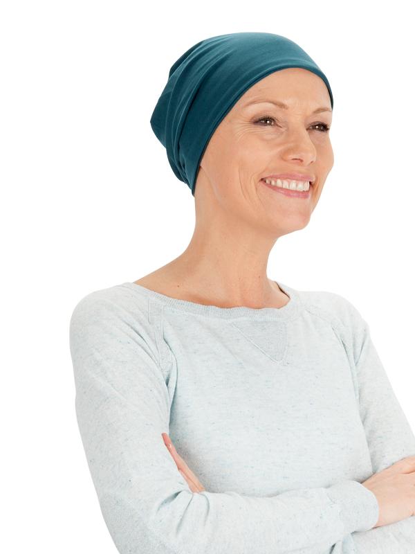 Top Aca petrol - chemo mutsje / alopecia mutsje