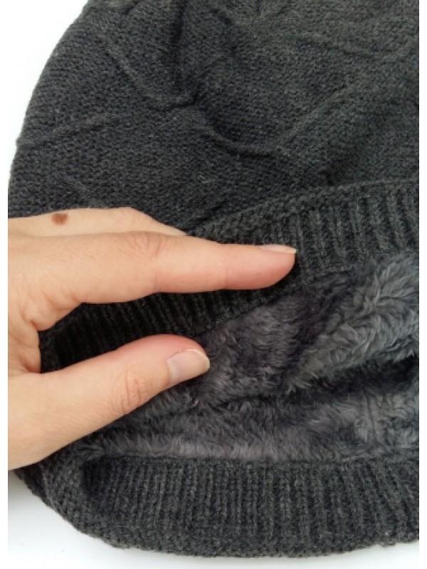 Beanie Courtney, met fleece, grijs
