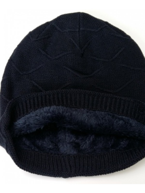 Beanie Courtney, met fleece, navy