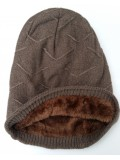 Beanie Courtney, met fleece, walnoot