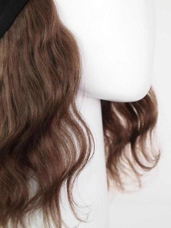 Heleen donkerbruin haarwerk zonder chemomutsje